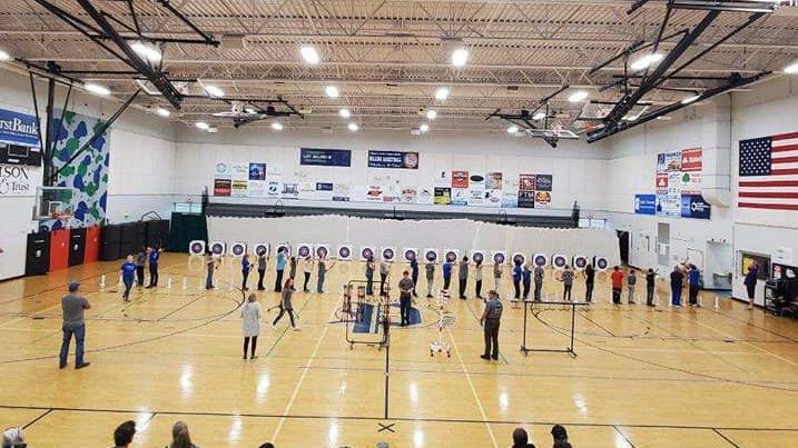 archers in gym