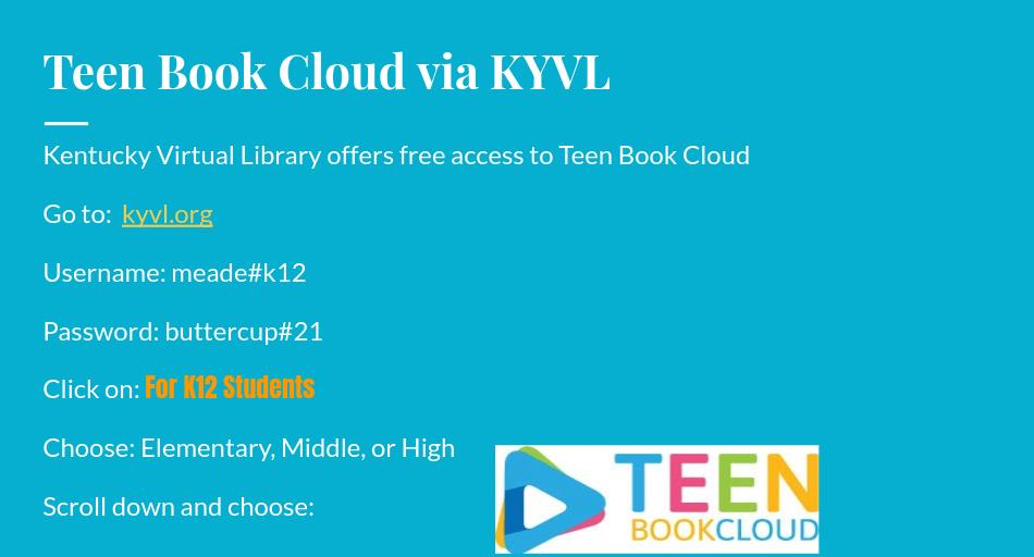 Teen Book Cloud via KYVL