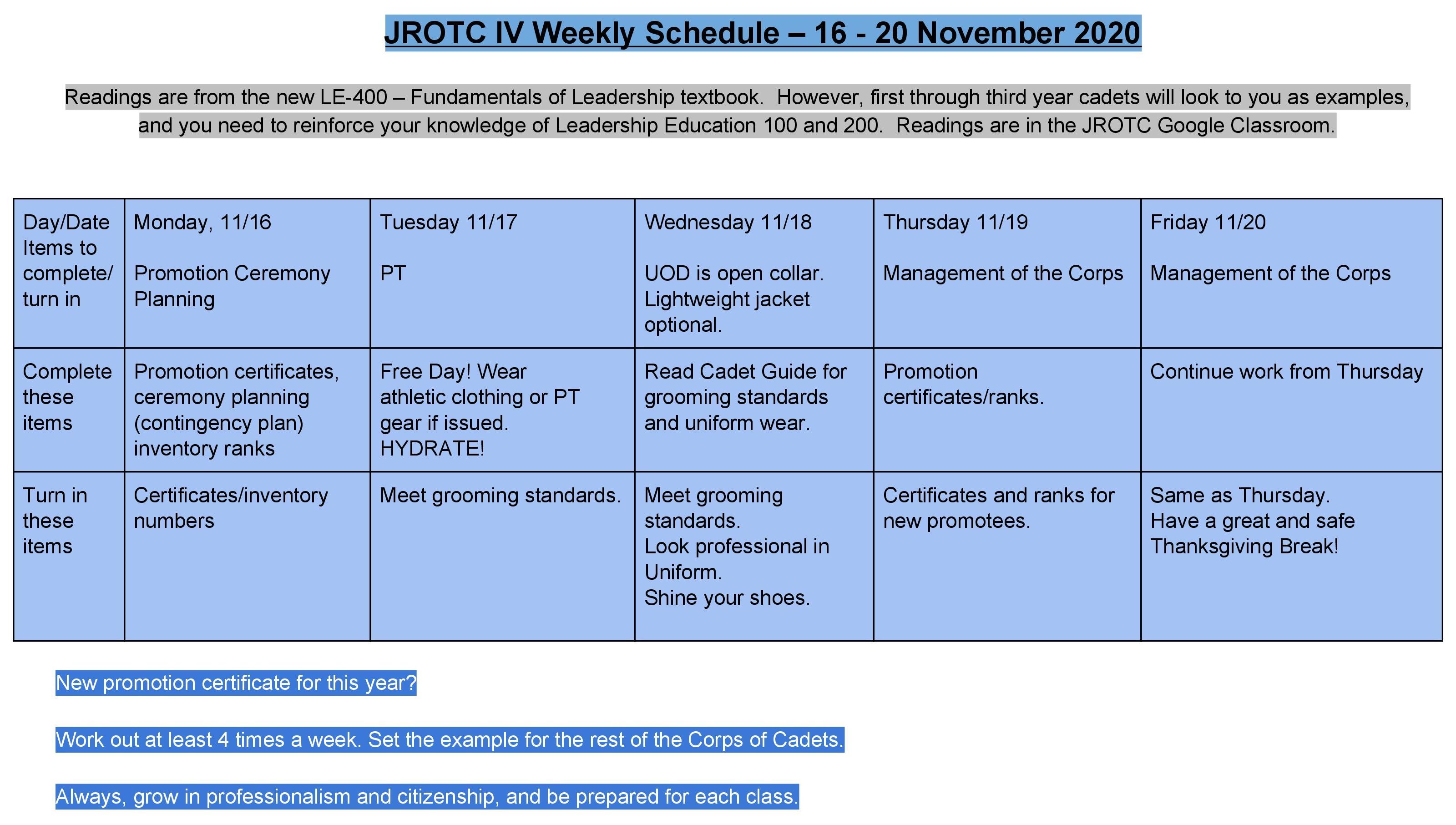 16-20 November 2020