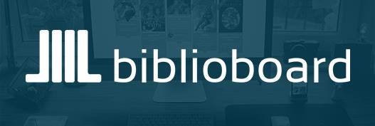 Biblioboard logo with link to free digital resource catalog