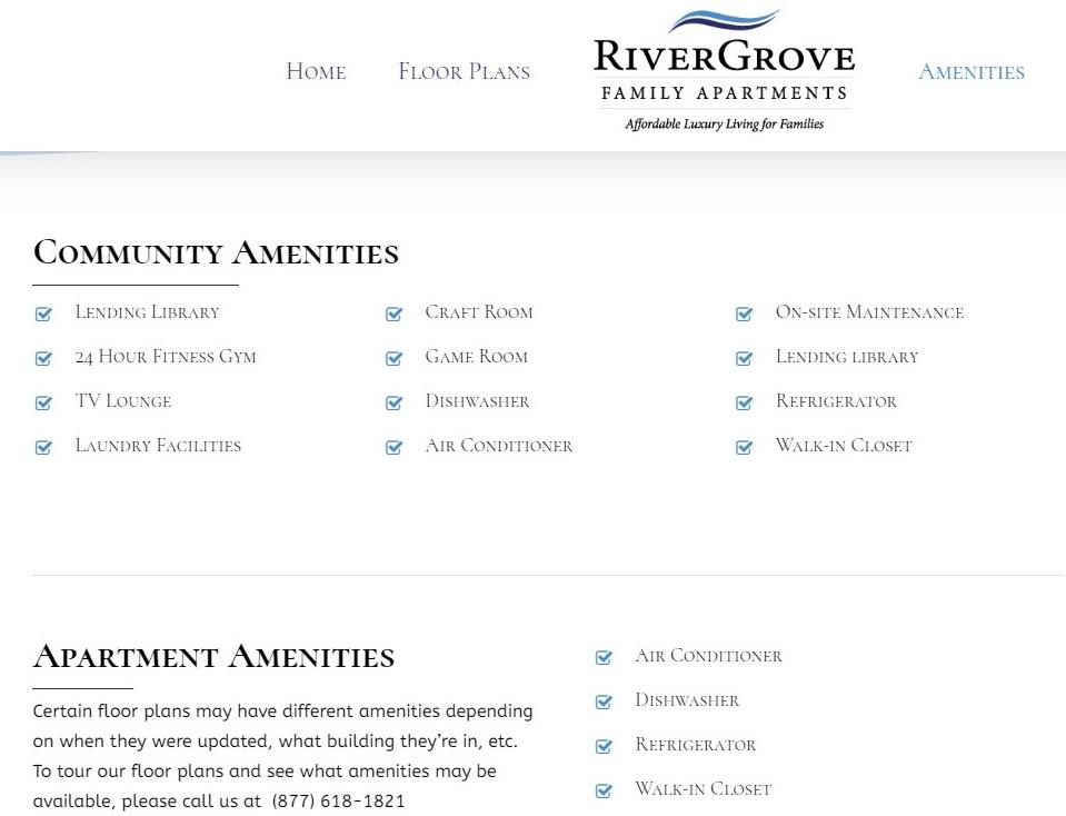 River Grove amenities
