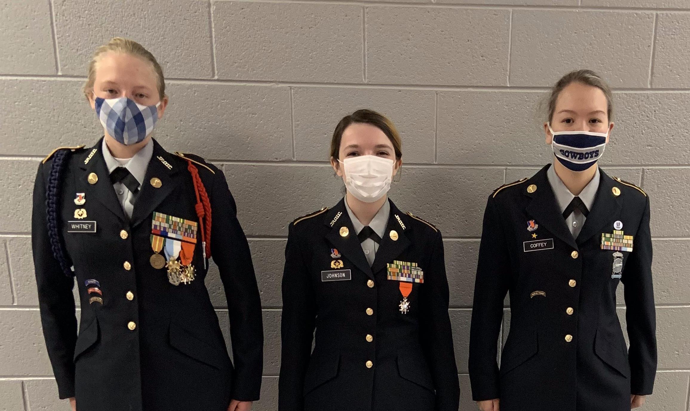 JROTC students in uniform