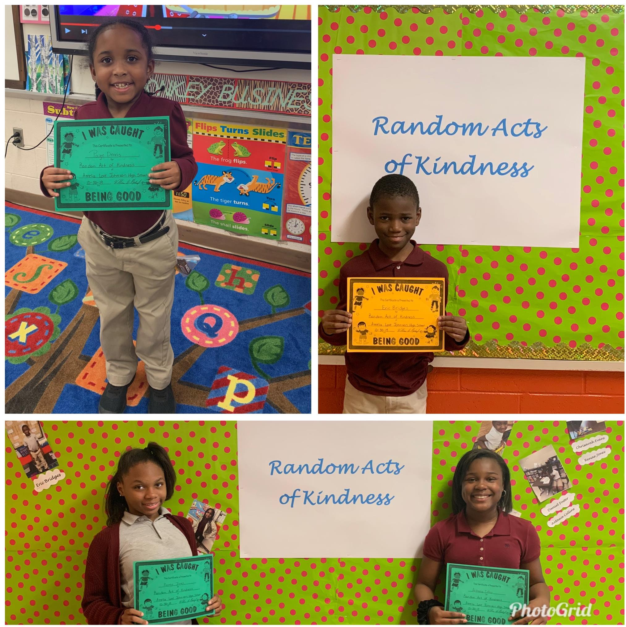 Random Act of Kindness 1st-Nine Weeks