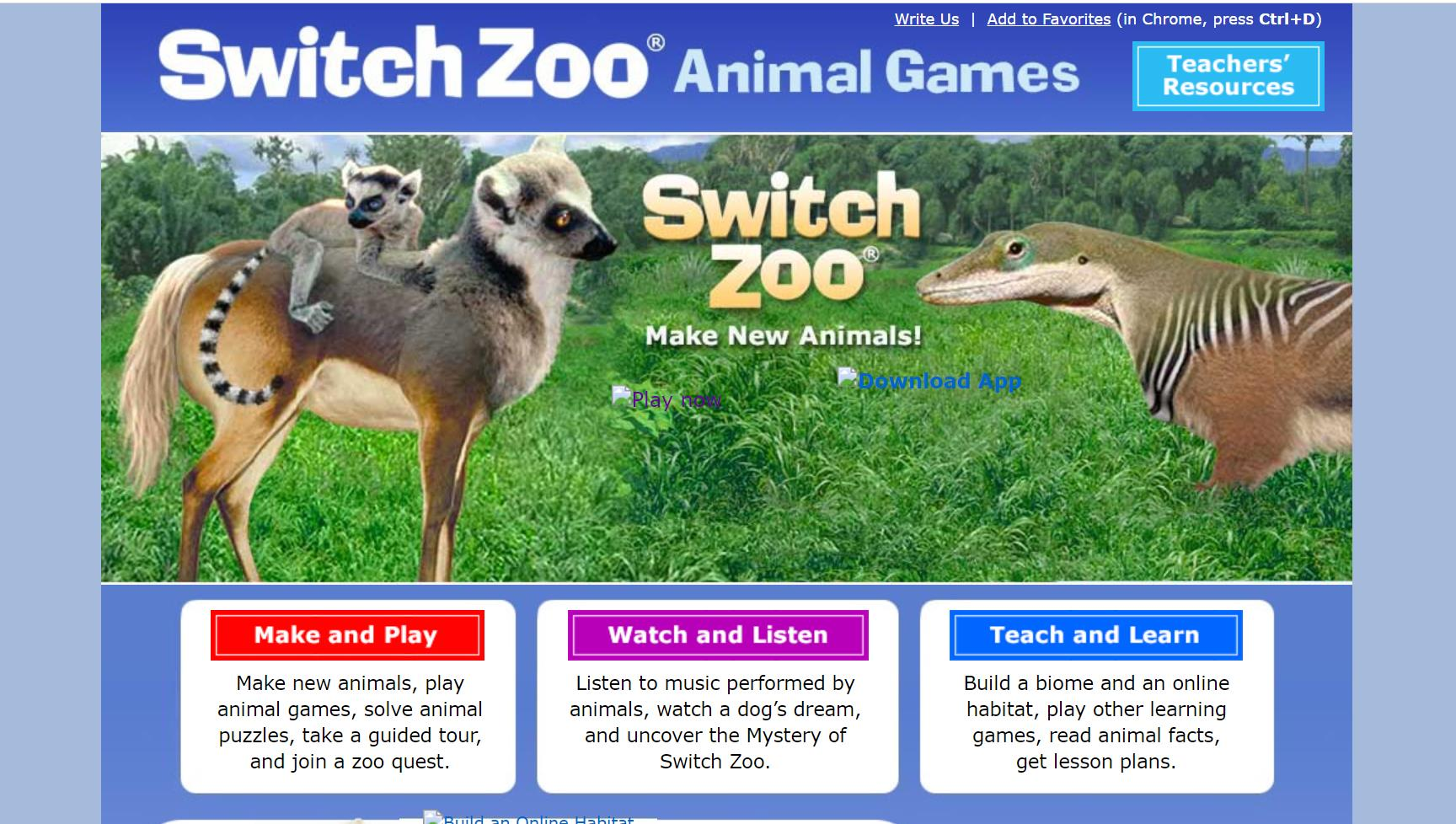 Switch Zoo Animal Games