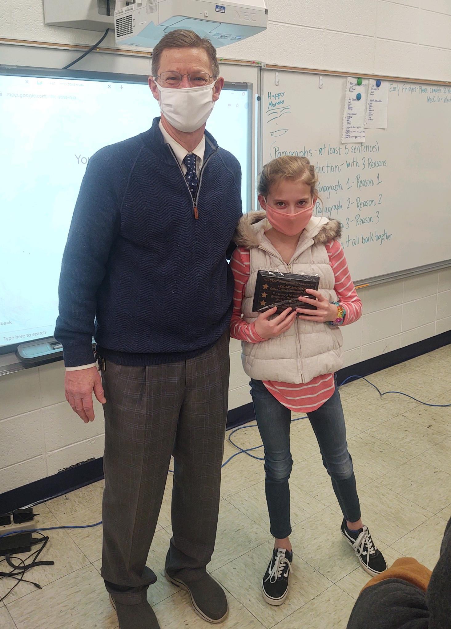 Lyndsay Browder and Mr. Reaves