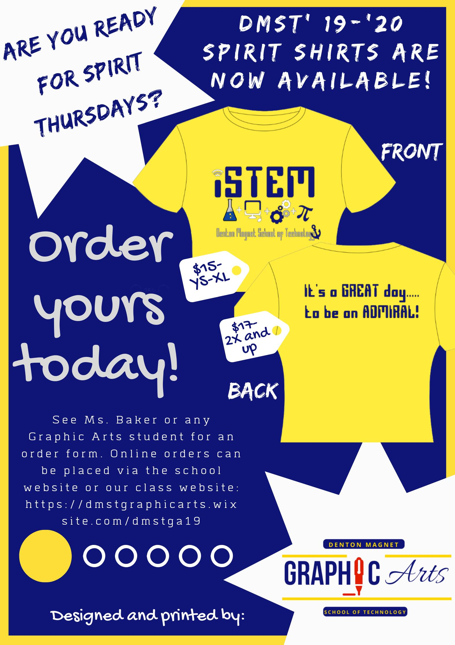 spirit shirt flyer