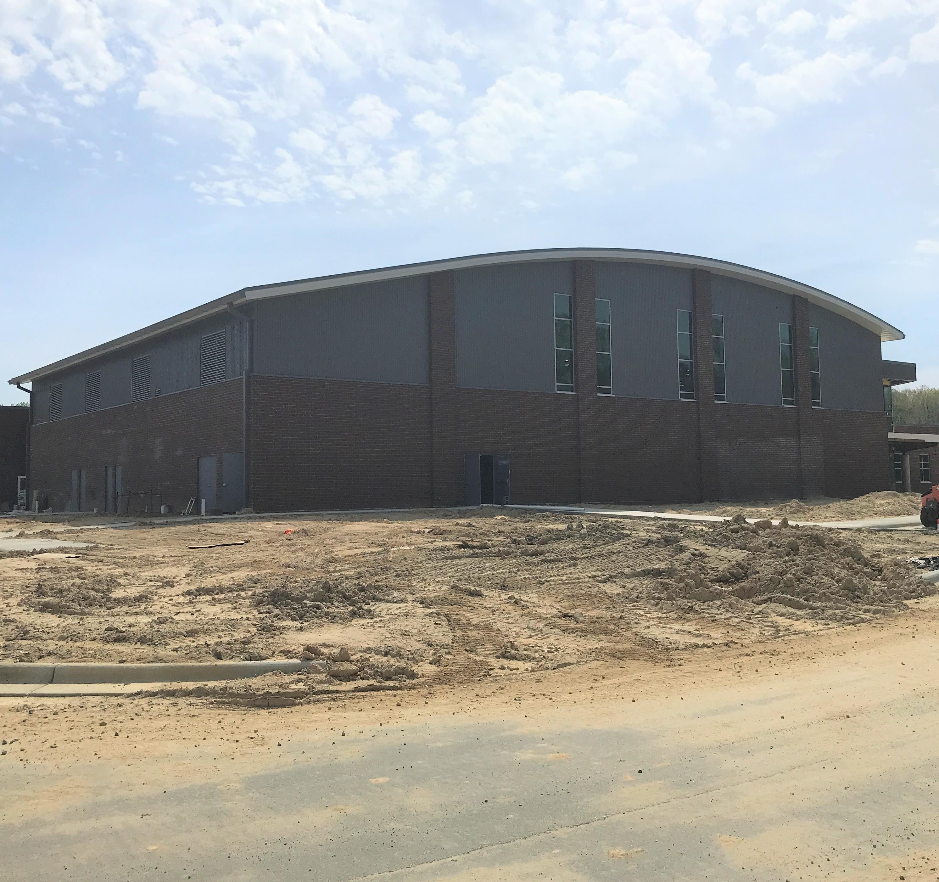 Trinity Middle School under construction