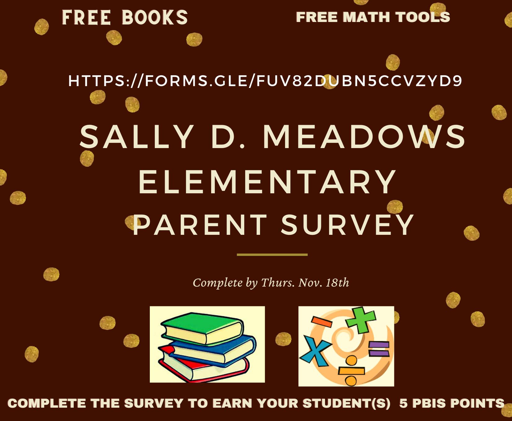 Sally D. Meadows Elementary Parent Survey