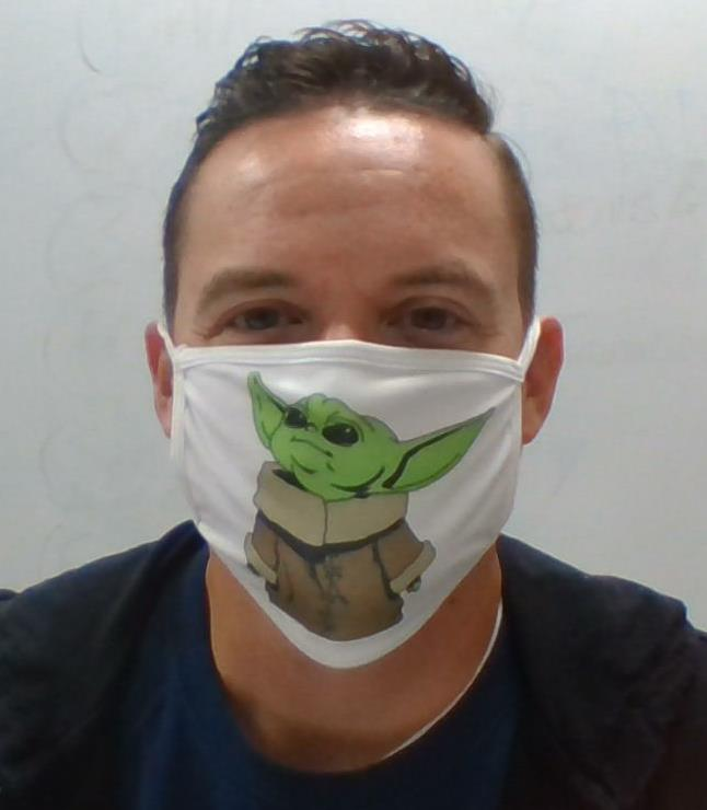 with mask