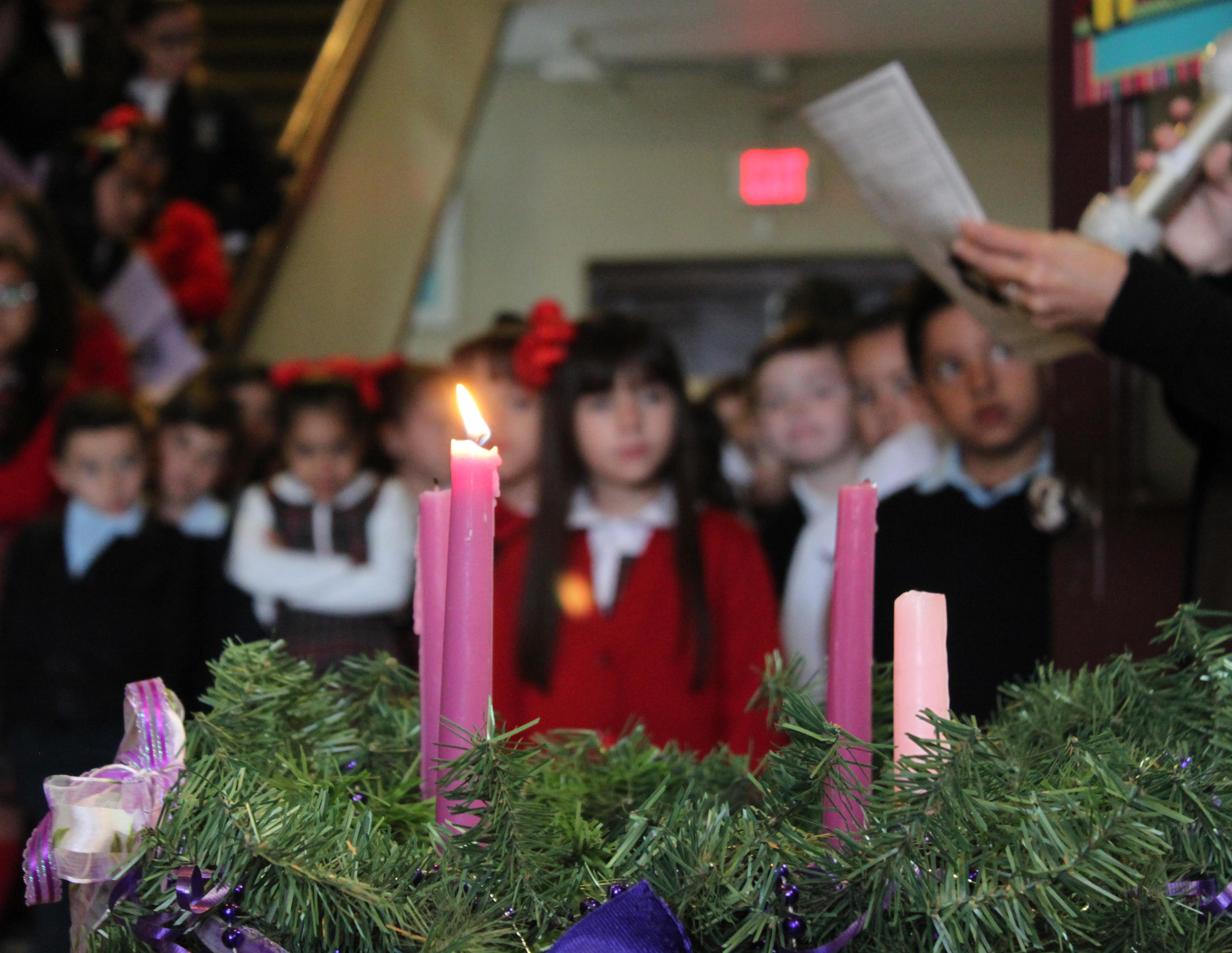 Lighting of the Advent candles