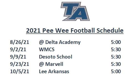 peewee schedule