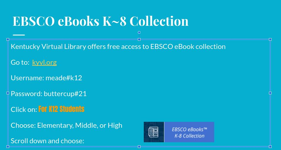 EBSCO eBooks K~8 Collection