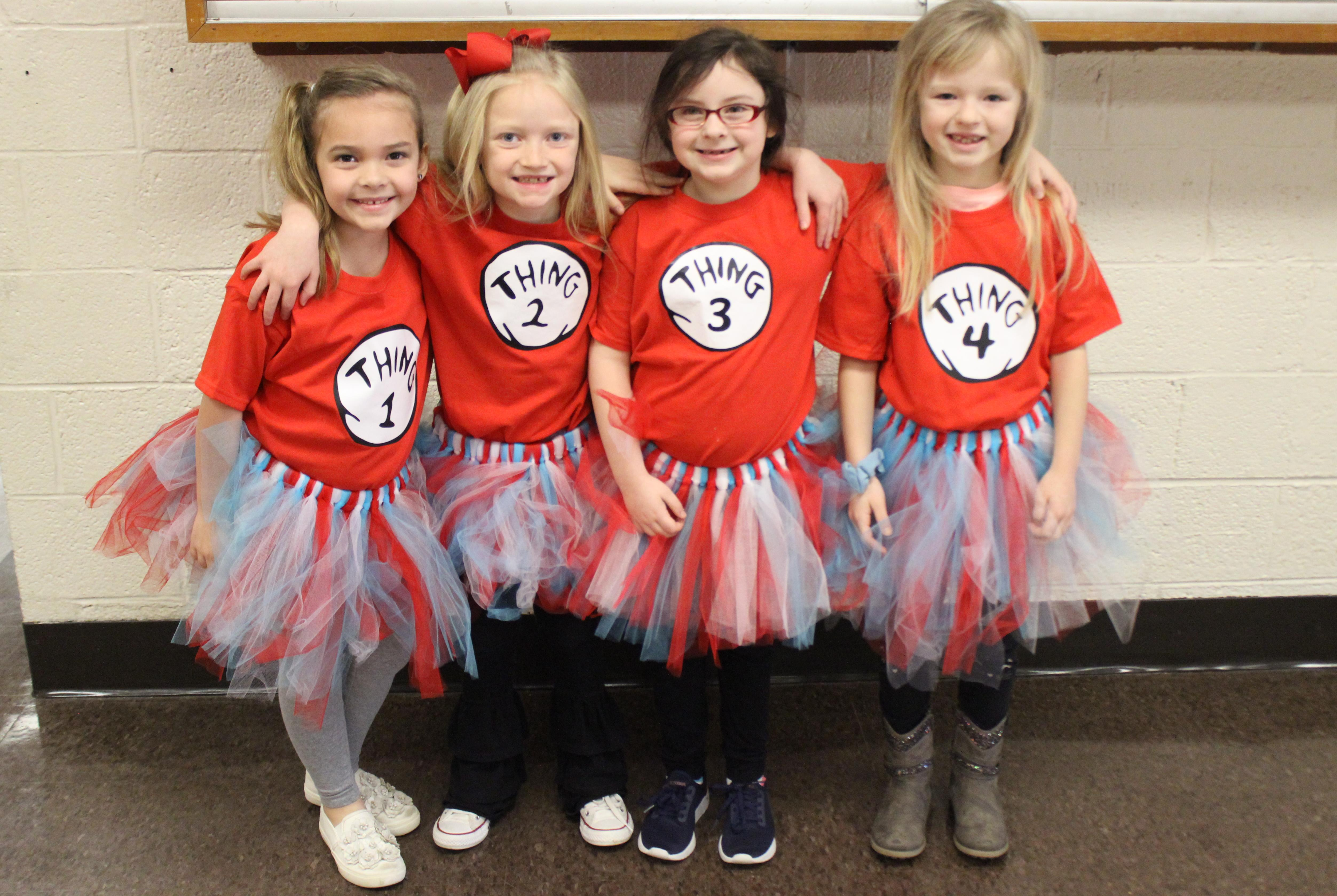 students dressed up for Read Across America week