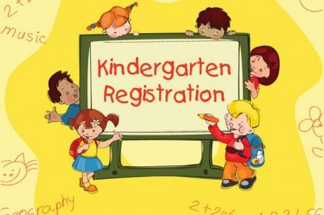 Kindergarten registration clip art sign