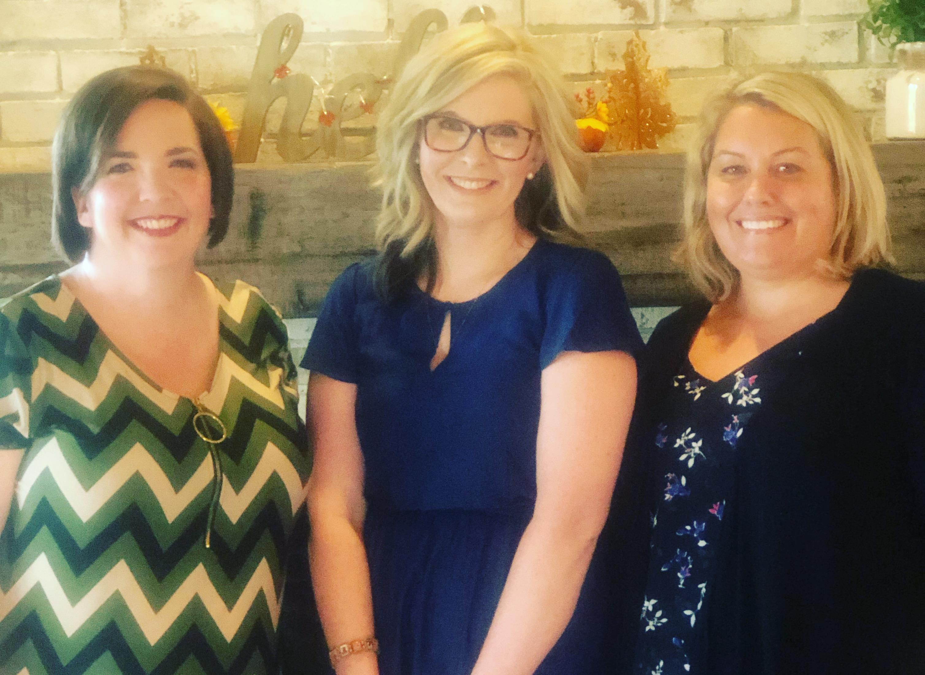 Admin team with Teacher of the Year, Mariah Gribble