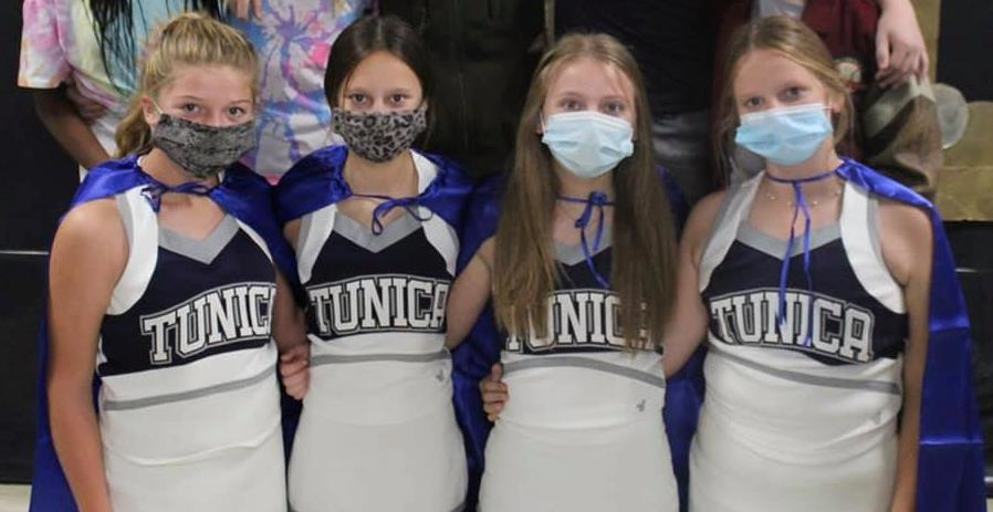 masked cheerleaders