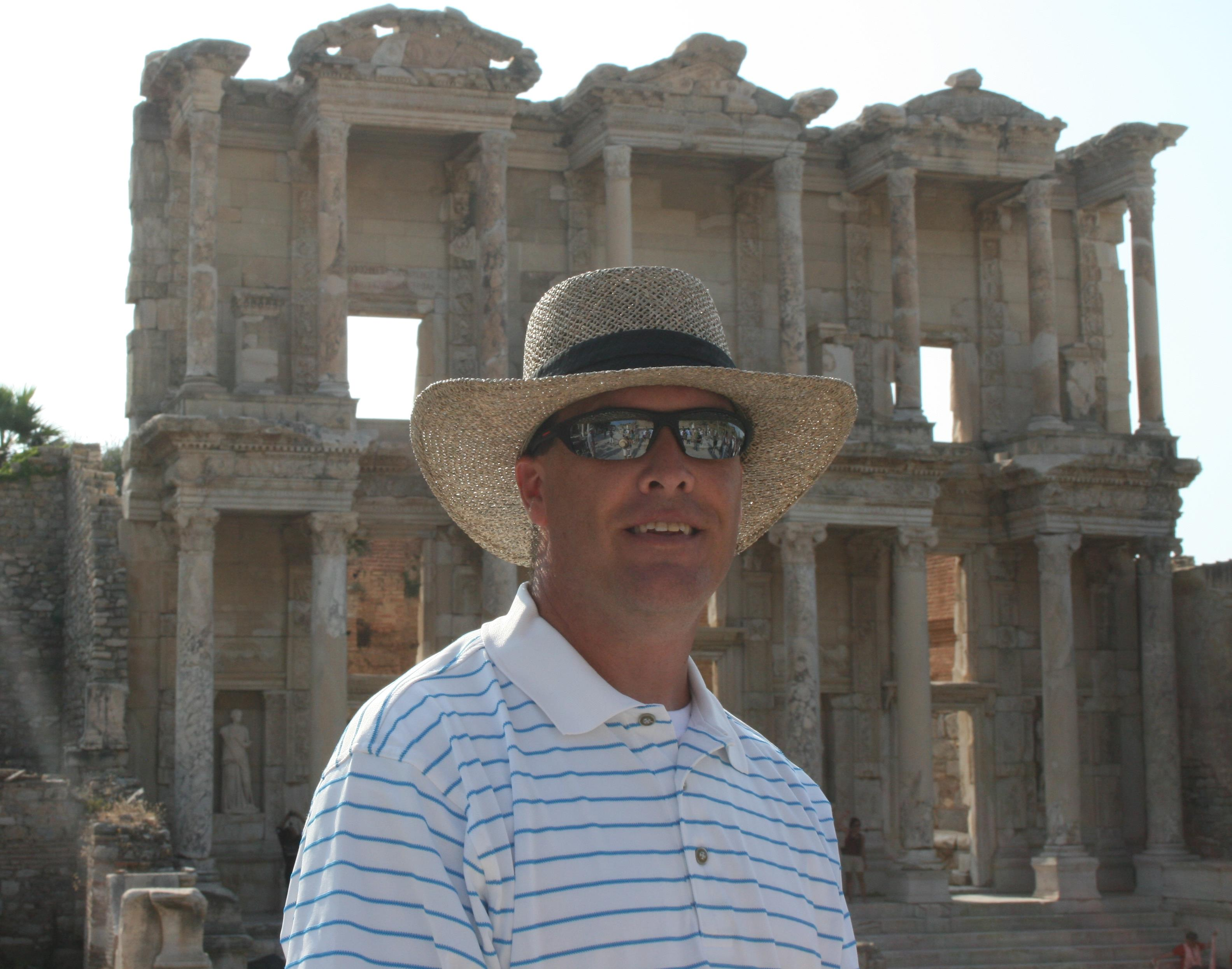 Mr. Smith at Library of Ephesus