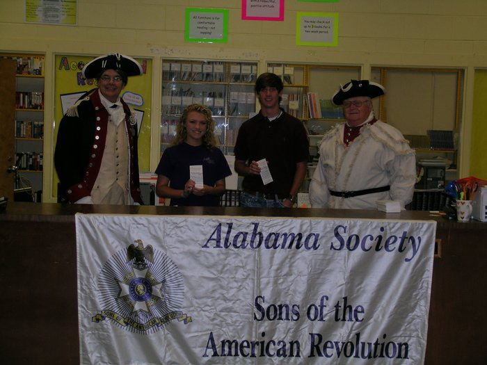 Students with Sons of American Revolution