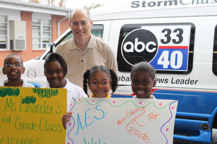 ABC Storm Chasers with students