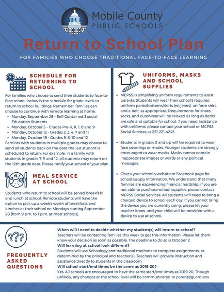 return to school page 1 flyer